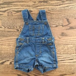 Worn once Carter's 6 month Overalls
